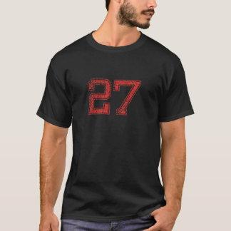 赤はJerzee第27を遊ばします Tシャツ