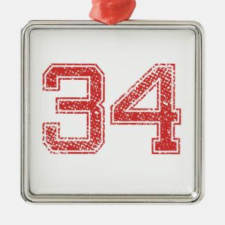 赤はJerzee第34を遊ばします メタルオーナメント