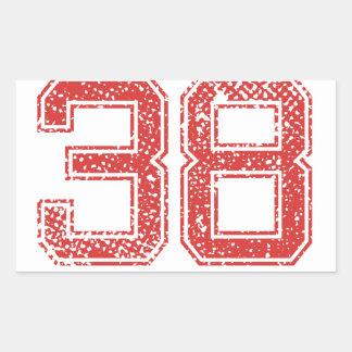 赤はJerzee第38を遊ばします 長方形シール