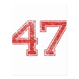 赤はJerzee第47を遊ばします ポストカード