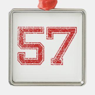 赤はJerzee第57を遊ばします メタルオーナメント