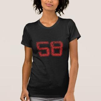 赤はJerzee第58を遊ばします Tシャツ