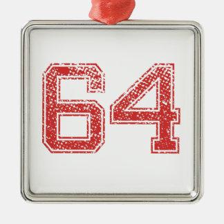 赤はJerzee第64を遊ばします メタルオーナメント