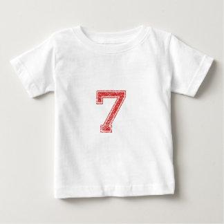 赤はJerzee第7を遊ばします ベビーTシャツ