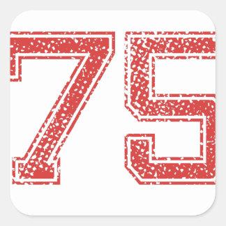 赤はJerzee第75を遊ばします スクエアシール