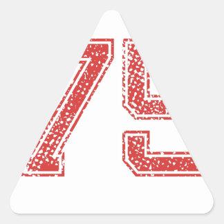 赤はJerzee第75を遊ばします 三角形シール