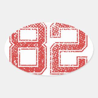赤はJerzee第82を遊ばします 楕円形シール