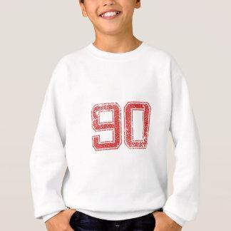 赤はJerzee第90を遊ばします スウェットシャツ
