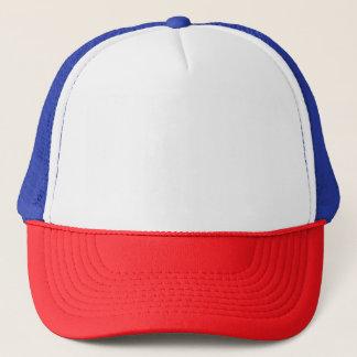 赤または白くまたは青のトラック運転手の帽子 キャップ