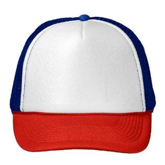 赤または白くまたは青のトラック運転手の帽子 トラッカーキャップ