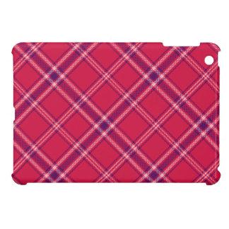 赤または紫色かピンクのタータンチェック格子縞のiPad Miniケース iPad Mini カバー