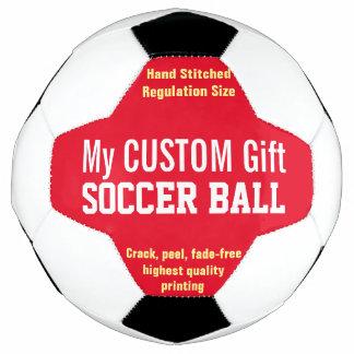赤を個人化する習慣によって印刷されるサッカーボール サッカーボール