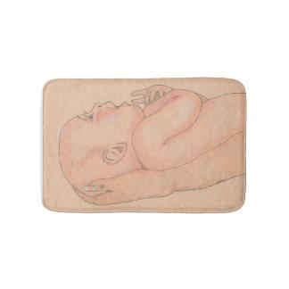 「赤ん坊が付いている記憶マットは愛情のある腕で握りました バスマット
