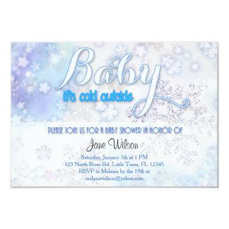 赤ん坊それは冷たい外のベビーシャワーです カード