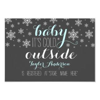 赤ん坊それは冷たい外のベビーシャワーの登録の挿入物です カード