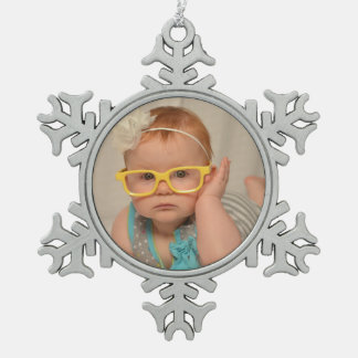 赤ん坊のオーナメントのイメージ スノーフレークピューターオーナメント