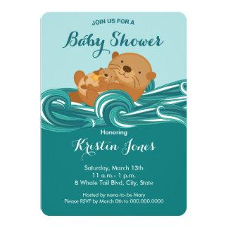 赤ん坊のカワウソのベビーシャワーの招待状 カード