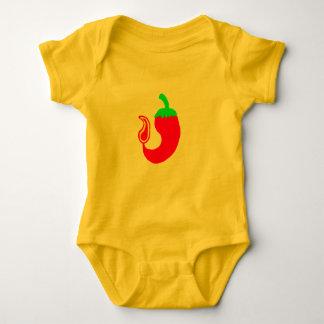 赤ん坊のクリーパーの熱いハラペーニョ ベビーボディスーツ