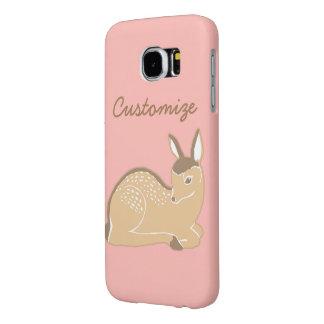 赤ん坊のシカのピンクのカスタムなSamsungの銀河系S6の箱 Samsung Galaxy S6 ケース