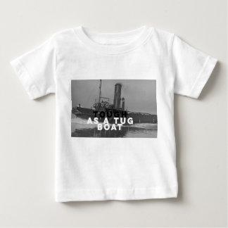 赤ん坊のジャージーのTシャツはタグボートとして堅いティーにのせます ベビーTシャツ