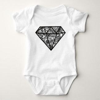 赤ん坊のダイヤモンドのボディスーツ ベビーボディスーツ