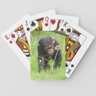 赤ん坊のチンパンジーのトランプ トランプ