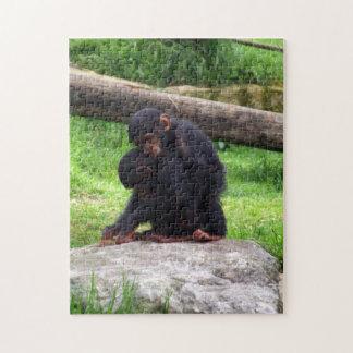 赤ん坊のチンパンジーのパズル ジグソーパズル