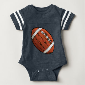 赤ん坊のフットボールのボディスーツ ベビーボディスーツ