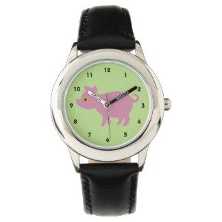 赤ん坊のブタ 腕時計
