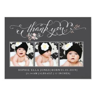 赤ん坊の一口は及び誕生の発表感謝していすために見ます 12.7 X 17.8 インビテーションカード