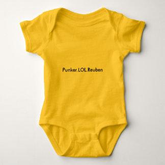 赤ん坊の均一黄色Punker.LOL.Reuben ベビーボディスーツ