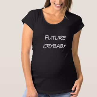 赤ん坊の妊婦のな未来の泣き虫のティー マタニティTシャツ