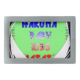 赤ん坊の明るいハートのHakuna Matataの赤ん坊の子供のデザイン 長方形ベルトバックル