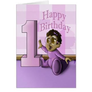 赤ん坊の第1誕生日 グリーティングカード