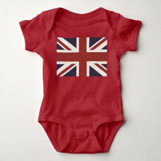 赤ん坊の英国国旗のボディスーツ ベビーボディスーツ