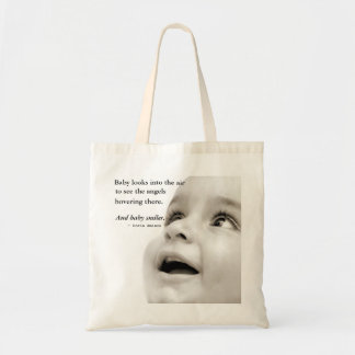 赤ん坊はトートバック微笑します トートバッグ