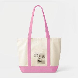 赤ん坊はピンク衝動のトートバックの微笑します トートバッグ