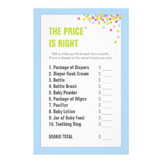 赤ん坊は価格正しいです-青振りかけましたり/ベビーシャワーの 便箋