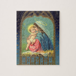 赤ん坊イエス・キリストを握っている出生メリー ジグソーパズル