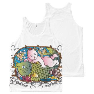 赤ん坊仏 オールオーバープリントタンクトップ