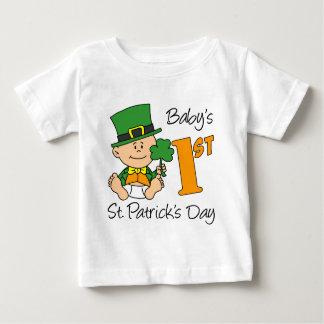 赤ん坊第1のSt patricks day ベビーTシャツ