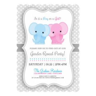 赤ん坊象の性はパーティを明らかにします カード