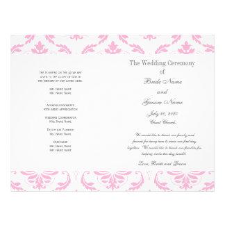 赤ん坊|ピンク|灰色|ヴィンテージ|ダマスク織|結婚|プログラム チラシ広告