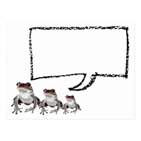 赤カエル ポストカード ポストカード