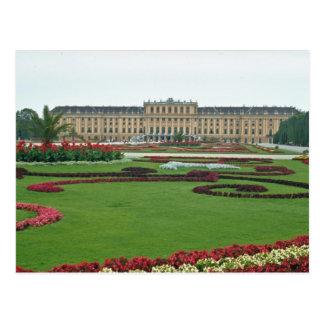 赤ハプスブルクのShonbrunnの城、ウィーン、 ポストカード