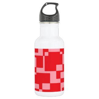 赤ピンクの正方形 ウォーターボトル