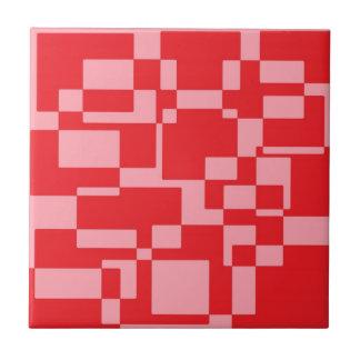 赤ピンクの正方形 タイル