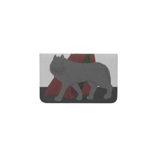 赤フード付きの姿およびオオカミ 名刺入れ