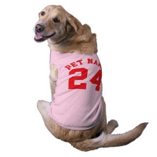 赤ペット スポーツのジャージーのピンク及びデザイン ペット服