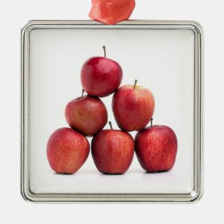 赤リンゴのピラミッド メタルオーナメント